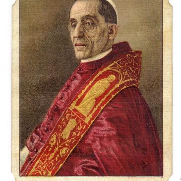 I papi nelle immaginette religiose