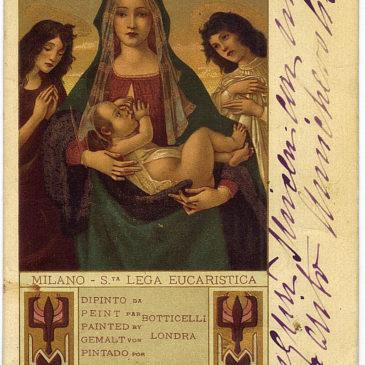"""Le cartoline sulla """"Vita di Gesù"""" edite dalla S. Lega Eucaristica"""