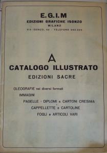 La copertina del catalogo Egim 1960