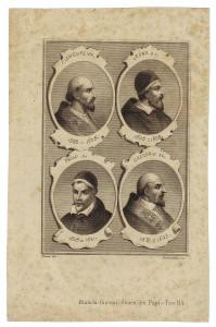 I papi raffigurati dall'incisore Santamaria di Milano