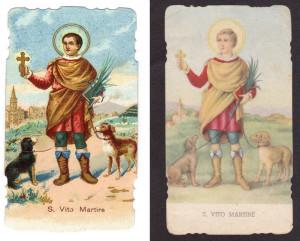 L'immagine di San Vito nelle edizioni C.G. (anni 20) e Isonzo, prima edizione