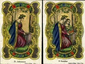 A sinistra S. Johanna. A destra S. Karoline.
