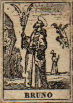 talismano edule (cm 0,9 x 1,5), raffigurante San Bruno, protettore contro il demonio