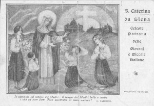 Santa Caterina da Siena, Patrona delle giovani italiane
