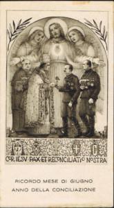 Immaginetta commemorativa dei Patti Lateranensi, 1929