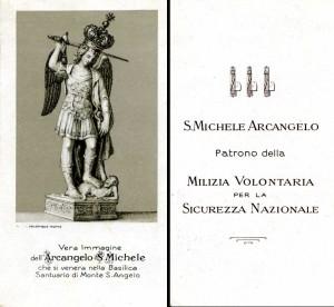 S. Michele Arcangelo, Patrono delle Camicie Nere