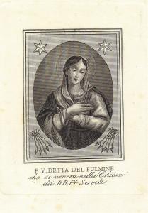 B. V. detta del Fulmine, che si venera nella Chiesa dei RR. PP Serviti