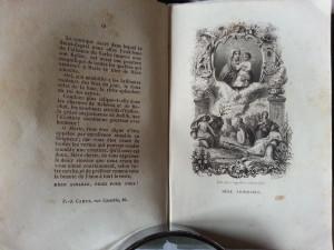 """Libro raccolta di immaginette della Serie """"Litanies"""", incise dal Varin nel 1850 e pubblicato dall'editore Camus di Parigi."""