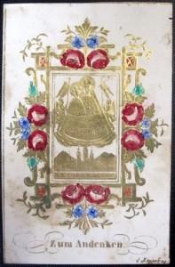 Antica immagine di Mariazell. Joseph Koppe. Impressioni in oro su carta goffrata.