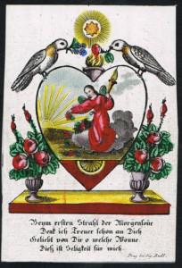 Incisione al tratto e al puntinato, con coloritura a mano. S. Rudl. Praga, prima metà del XIX sec.