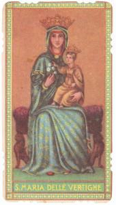Santino popolare raffigurante la protettrice dell'Autostrada del Sole