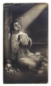 Il santino come era stato stampato in origine