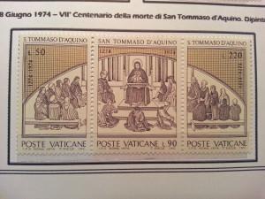 Francobolli commemorativi del VII Centenario della morte di San Tommaso d'Aquino