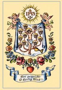 Santino moderno raffigurante il celebre miracolo