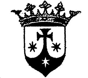 Il celebre scudo coronato dei Carmelitani, logo della Santa Lega Eucaristica