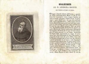 Immaginetta italiana. Sec. XIX. Il testo della preghiera si presenta accanto all'immagine del soggetto.