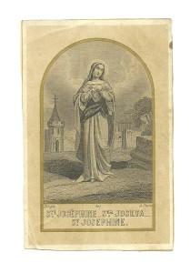 Santa Giuseppina in una siderografia firmata Turgis. Parigi, metà XIX sec.
