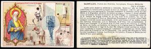 Una cromolitografia della serie Les Corps d'Etat & Leurs Sts Patrons, edita dalla Chocolaterie Aiguebelle