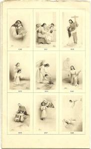 Una pagina del Catalogo della casa editrice Seb, relativo alla serie seppiata