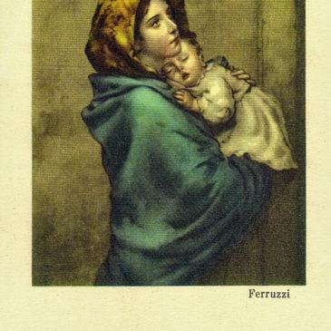 Qual è l'immagine più celebre riprodotta sui santini?