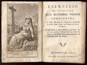 L'immagine dell'antiporta e il Frontespizio del libro