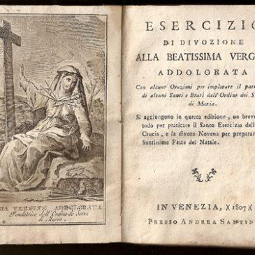 Libri religiosi: Esercizio di Divozione alla Beatissima Vergine Addolorata