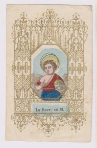 xilografia acquarellata a mano, con cornice litografica dorata