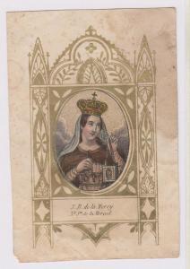 siderografia colorata a mano, con cornice litografica dorata