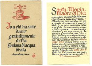 Altri due santini della Serie A: il n. 20 e il n. 52