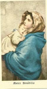 L'immagine della Madonnina, in una delle migliaia di versioni stampate
