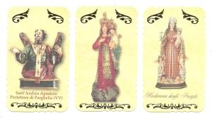 Altri tre santini della Serie I pubblicata dalla Fars