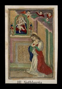 Santa Notburga in una incisione di Joseph Koppe. Metà 800 .ca