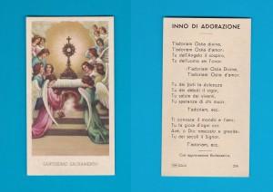 Lo stesso santino stampato su carta ruvida