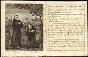 Forse il Manzoni immaginava un santino simile nelle mani di Menico, donatogli dal cappuccino padre Cristoforo