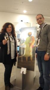 Con la pittrice Laura Magni