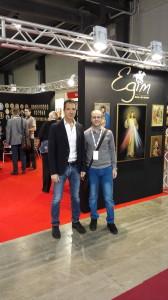 con Paolo Gariboldi allo stand della Egim