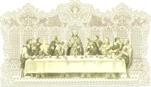 Riproduzione della celebre Ultima Cena prodotta dalla Maison Basset e da Bouasse Lebel