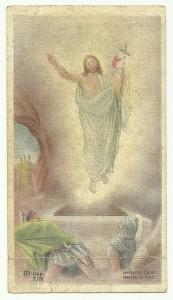 il santino usato da Padre Pio per ricordare il suo 50° di vita religiosa