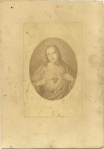 Un'immaginetta in fotografia. Francia, metà XIX sec.