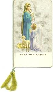 Calendarietto del 1960 edito da AR - Ambrosiana di Milano