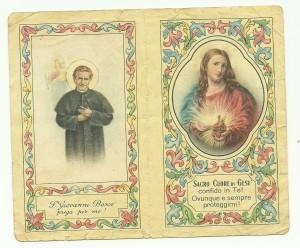 Calendarietto edito dai Salesiani di Bologna nel 1949
