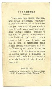L'imprimatur porta la data del 10 Agosto 1898