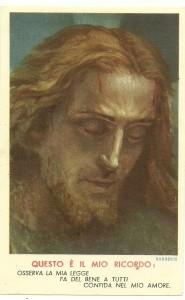 Un'immaginetta edita da ALMA per Opera della Regalità di N.S.G.C., firmata Barberis