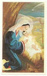 Santino degli anni 60 dedicato alla Pontificia Opera della Santa Infanzia. Edizioni se.pi Roma