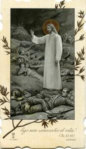 Gesù benedice i soldati italiani morti in guerra