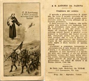 Sant'Antonio di Padova - proteggi i nostri soldati