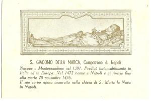 S. Giacomo della Marca, Compatrono della città di Napoli