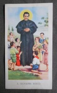 San Giovanni Bosco circondato dai bambini. Egim Isonzo n. 50.
