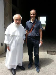 Con Padre Michele Fortuna, direttore della Biblioteca del Convento, nonché insigne studioso.