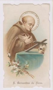 S. Bernardino da Siena, protettore dalla raucedine